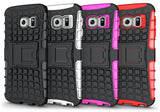 PINK GRENADE GRIP SKIN HARD CASE COVER STAND FOR SAMSUNG GALAXY S6 EDGE SM-G925