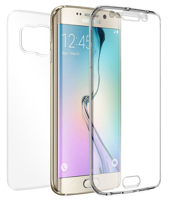 TRI-MAX CLEAR SCREEN GUARD TPU CASE SLIM CURVED COVER FOR SAMSUNG GALAXY S6 EDGE
