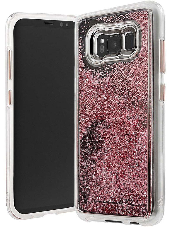 Case-Mate Rose Gold Waterfall Case Glitter Sparkle for Samsung Galaxy S8 Plus