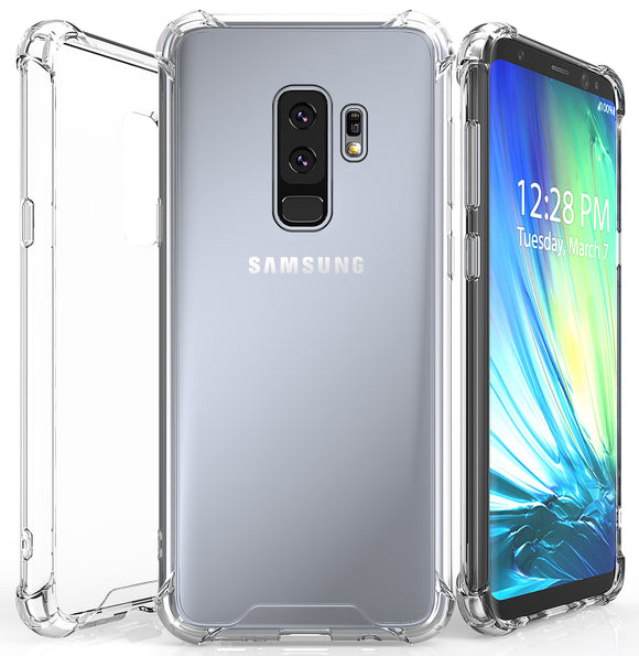 AQUAFLEX ANTI-SHOCK CLEAR CASE COVER HARD COVER FOR SAMSUNG GALAXY S9 PLUS, S9+