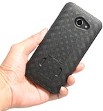 Black Kickstand Case Cover + Belt Clip Holster for Alcatel A30/Kora/Zip LTE 5.0""