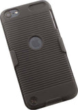 BLACK RUBBERIZED HARD CASE + BELT CLIP HOLSTER COMBO FOR iPOD TOUCH 5 6 7