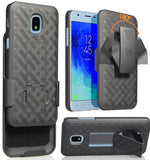 Black Case Stand Cover Belt Clip for Galaxy Express Prime 3, Amp Prime 3, Sol 3