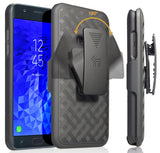 Black Case Cover + Belt Clip Holster for Samsung Galaxy J7 2018 Star/Refine/Aero