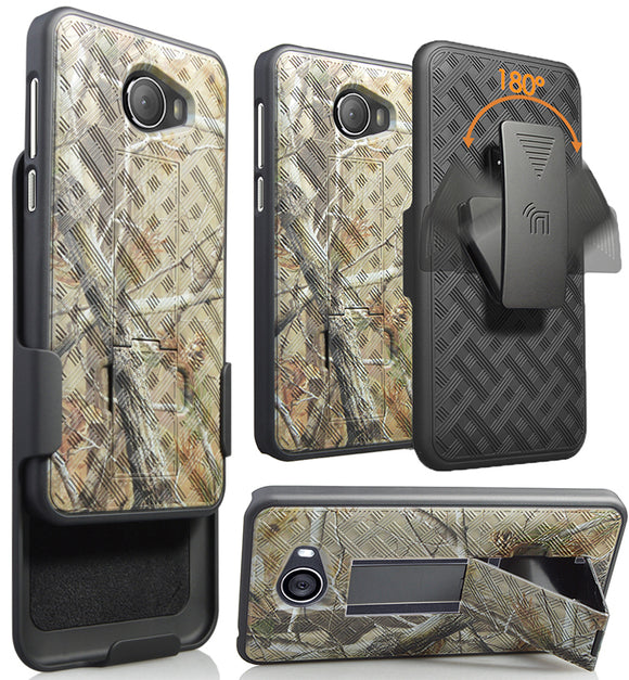 Camo Tree Real Woods Case Cover Belt Clip Holster for GreatCall Jitterbug Smart2