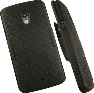 NEW BLACK HARD CASE COVER + BELT CLIP HOLSTER STAND FOR MOTOROLA DROID MAXX 2