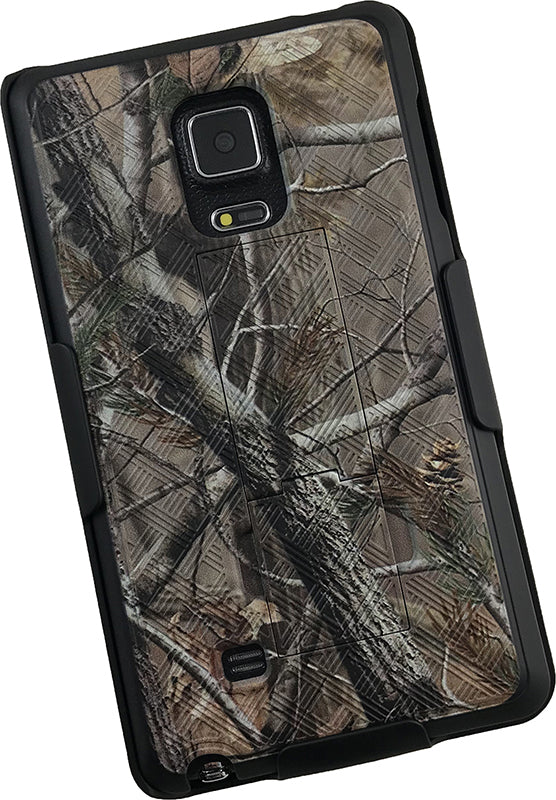 Camo Leaf Tree Kickstand Case + Belt Clip Holster for Samsung Galaxy Note Edge