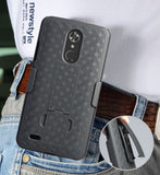 Black Kickstand Case Cover + Belt Clip Holster for ZTE MAX XL N9560