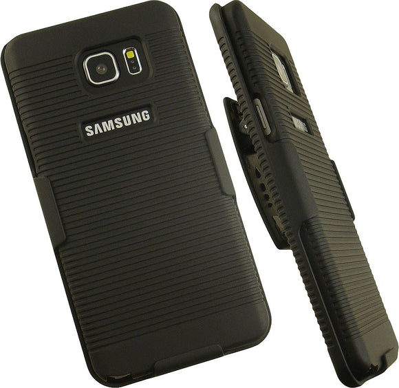 NEW BLACK HARD CASE COVER + BELT CLIP HOLSTER STAND FOR SAMSUNG GALAXY NOTE 5