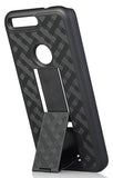 BLACK RUBBERIZED KICKSTAND CASE + BELT CLIP HOLSTER STAND FOR GOOGLE PIXEL XL