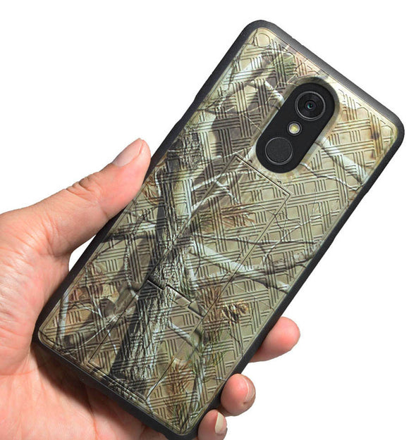 Camo Tree Real Woods Case Kickstand Cover for LG Stylo 4 Plus Q710, Q Stylus