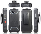 Black Belt Clip Holster Case Stand for Sonim XP5s Phone (XP5800)
