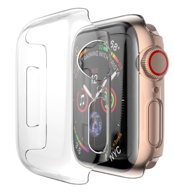 Case for Apple Watch (SERIES 4, 44mm) - Clear Hard Shell Screen Guard Cover