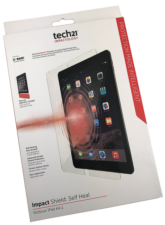 Tech21 IMPACT SHIELD SELF-HEAL ANTI-SCRATCH SCREEN PROTECTOR FOR iPAD AIR 2