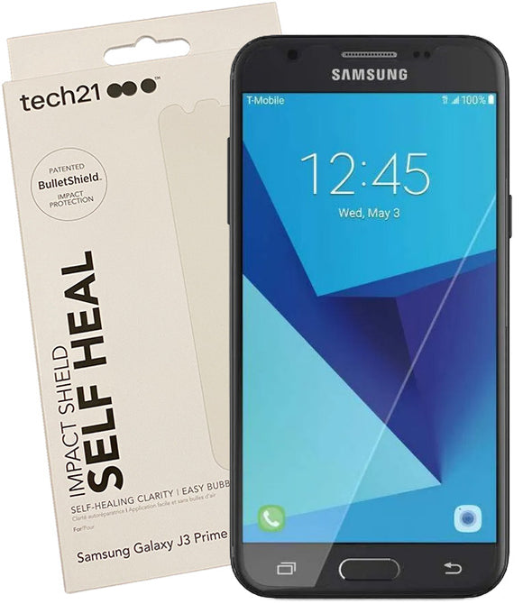 Tech21 Impact Shield Anti-Scratch Screen Protector for Galaxy J3 Prime 2017