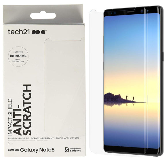 Tech21 Impact Shield Anti-Scratch Screen Protector for Samsung Galaxy Note 8