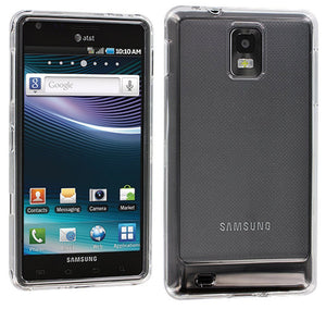CLEAR TRANSPARENT HARD SHELL CASE COVER FOR SAMSUNG INFUSE 4G i997