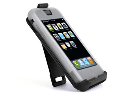 NEW SPECK SKIN PRO CLEAR RUBBER SKIN CASE + BELT CLIP HOLSTER FOR iPHONE 2G