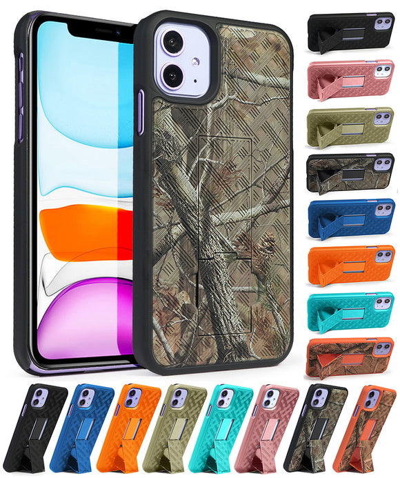 Slim Kickstand Case Hard Shell Cover for Apple iPhone 11