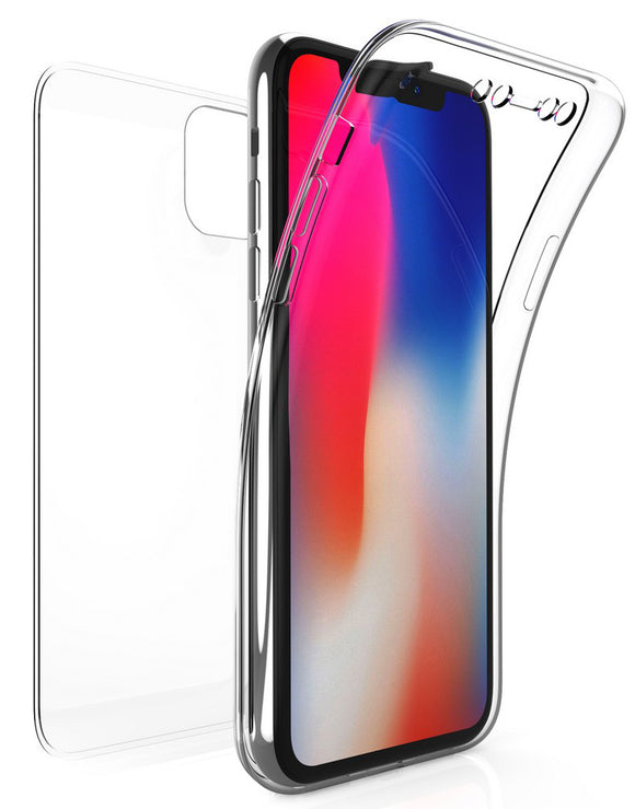 Tri-Max Clear Screen Guard Full Body Wrap Case TPU Cover for Apple iPhone 11