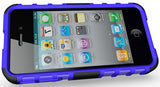 PURPLE GRENADE RUGGED TPU SKIN HARD CASE COVER STAND FOR APPLE iPHONE 4S 4 4G