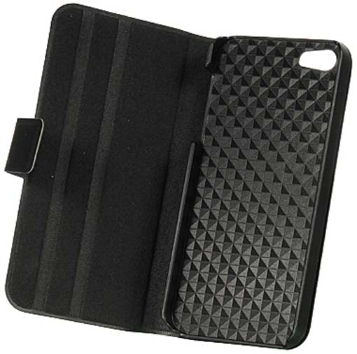 LUXMO BLACK DOLCE BOOK STYLE CASE COVER VIEW STAND FOR iPHONE 5 5s SE (2016)