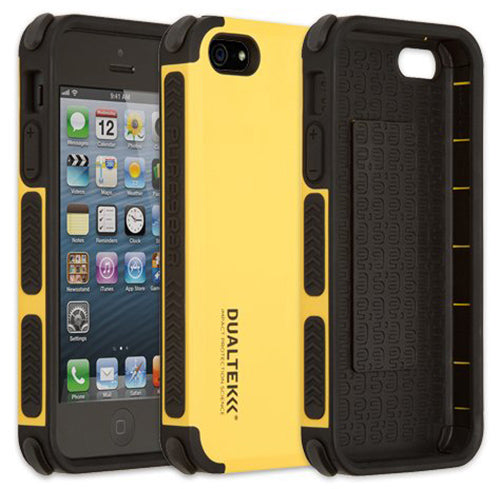 PUREGEAR YELLOW DUALTEK EXTREME RUGGED CASE COVER FOR iPHONE 5 5s 5c SE (2016)
