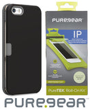 PUREGEAR BLACK FOLIO WALLET CASE + SCREEN PROTECTOR FOR APPLE iPHONE 5 5s SE