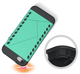 TEAL MINT TOUGH SLIM ARMOR SHIELD TPU RUBBER CASE COVER FOR iPHONE 5 5s SE 2016