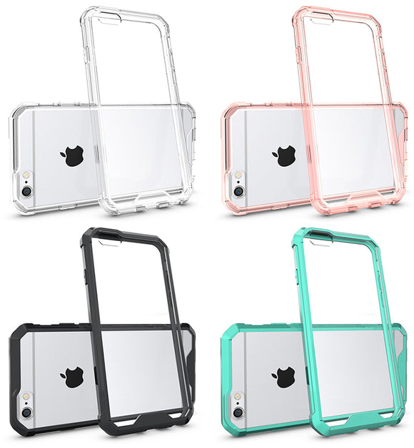 CLEAR TRANSPARENT AIR HYBRID ANTI-SHOCK TPU CASE HARD COVER FOR iPHONE 6 PLUS