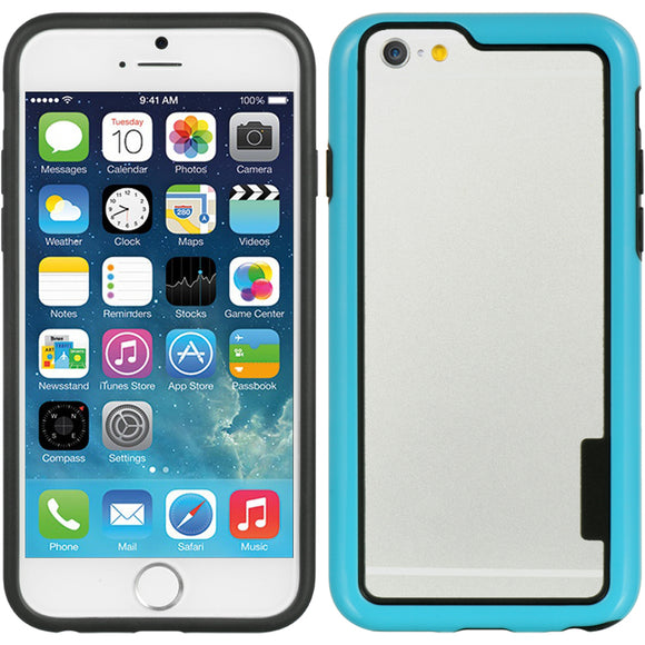 NEW BLUE HARD/SOFT TPU BUMPER SKIN CASE FRAME COVER FOR APPLE iPHONE 6 (4.7