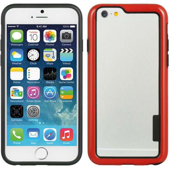 NEW RED HARD/SOFT TPU BUMPER SKIN CASE COVER FOR APPLE iPHONE 6 (4.7