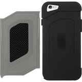 LUXMO GRAY/BLACK CARBON FIBER CRUSTIFICATION CASE COVER FOR APPLE iPHONE 6  4.7""