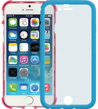 BLUE PINK WRAP CASE COVER BUILT-IN LCD SCREEN GUARD PROTECTOR FOR iPHONE 6  4.7""