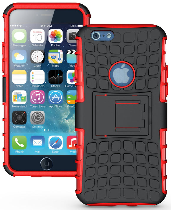 RED GRENADE GRIP RUGGED TPU SKIN HARD CASE COVER STAND FOR APPLE iPHONE 6 4.7