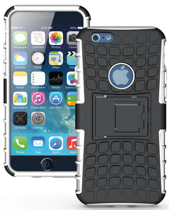 WHITE GRENADE GRIP RUGGED TPU SKIN HARD CASE COVER STAND FOR APPLE iPHONE 6 4.7""