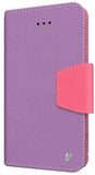PURPLE PINK INFOLIO WALLET CREDIT CARD ID CASH CASE STAND FOR iPHONE 6 PLUS 5.5""