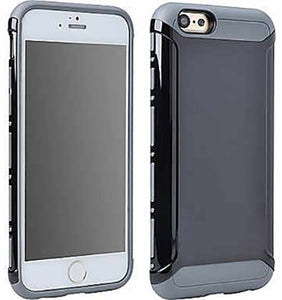BLACK/GRAY LIGHT ARMOR HYBRID CASE COVER FOR APPLE iPHONE 6 6s