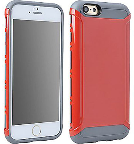 RED/GRAY LIGHT ARMOR HYBRID CASE COVER FOR APPLE iPHONE 6 6s