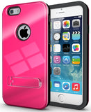 HOT PINK SLIM TOUGH SHIELD GLOSSY ARMOR HYBRID CASE COVER SKIN FOR iPHONE 6 4.7""