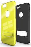 "YELLOW SLIM TOUGH SHIELD GLOSSY ARMOR HYBRID CASE COVER SKIN FOR iPHONE 6 (4.7"")"