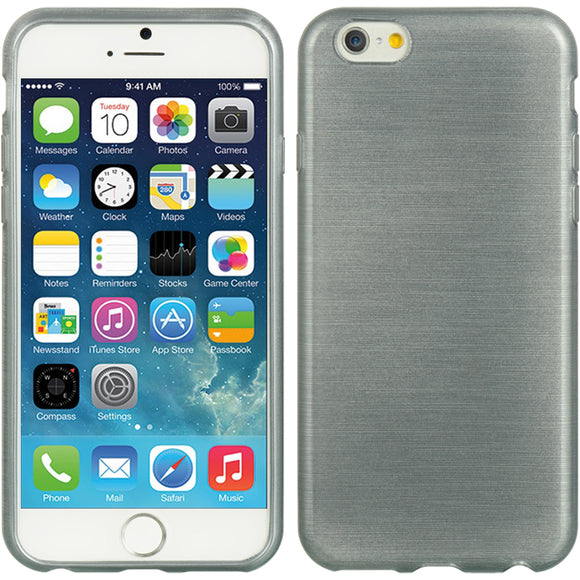STEEL GRAY SLATE SHEER SILK TPU SKIN CASE GRIP COVER FOR APPLE iPHONE 6 (4.7