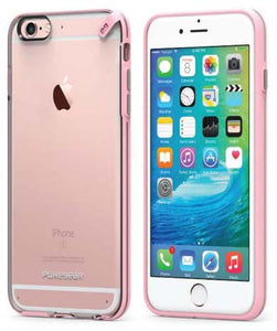 PUREGEAR SLIM SHELL PINK/CLEAR CASE HARD COVER FOR APPLE iPHONE 6/6s