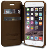 BROWN INFOLIO WRIST STRAP LANYARD WALLET CREDIT CARD ID CASE STAND FOR iPHONE 6