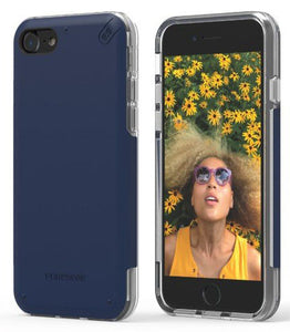 PureGear DualTek Pro Matte Navy Blue Case Cover for Apple iPhone 8, iPhone 7