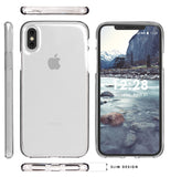 CLEAR TRANSPARENT GEL TPU SKIN CASE SLIM COVER FOR APPLE iPHONE X