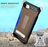 TRI-SHIELD RUGGED CASE METAL KICKSTAND CARD SLOT COVER + STRAP FOR iPHONE 8/7