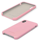 PureGear Pink SOFT-TEK Case Liquid Silicone Skin Cover for iPhone X/Xs/10/10s 10