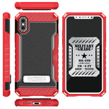 TRI-SHIELD RUGGED CASE KICKSTAND CARD SLOT COVER LANYARD FOR APPLE iPHONE X 10