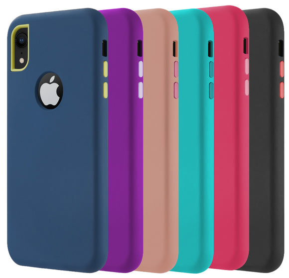 Dual Max Hybrid Rugged Case Rubberized Cover for Apple iPhone XR (10R)
